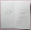 Anniversary Card - 50th Anniversary / 50 With Hearts & A Gold Bow On Digits
