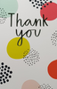 Thank You Card - Colourful Circle Pattern