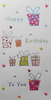 Birthday Card - General Female / Seven Gift Boxes & Love Hearts