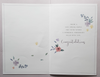 Anniversary Card - Brother & Sister-In-Law - A Pink & Purple Floral Heart & Love Birds