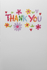 Thank You Card - Colourful Font & Flowers