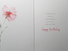 Birthday Card - Thinking Of You / Two Beautiful Flowers On White Front