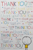 Thank You Card - Colourful 'Thank You's All Over