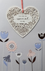 Birthday Card - So Special / An Elegant White Heart & Flowers