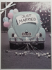 Wedding Card - A Retro Car With Balloons