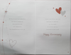 Anniversary Card - Mum & Dad / Silver Hearts & Stars with Verse