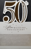 Anniversary Card - 50th Anniversary / Card in Shape of Gold 50th