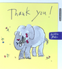 Thank You Card - Elephant With Flowers