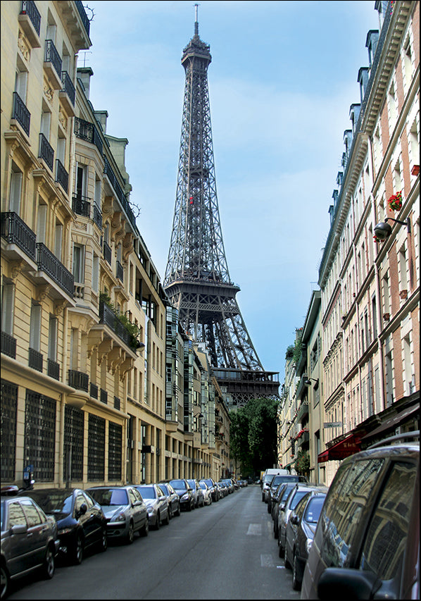 11066050 Eiffel Tower Street View, available in multiple sizes
