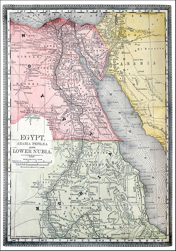 11608593 Antique Map of Egypt, available in multiple sizes