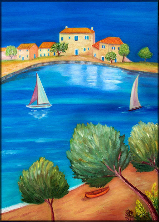 12076303 Mediterranean Seascape, available in multiple sizes