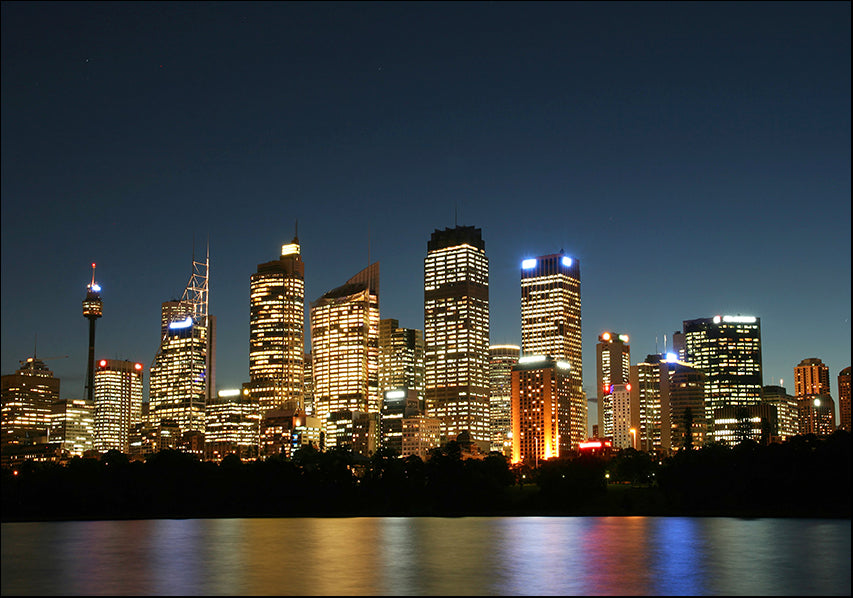 12543961 Sydney City at Night, available in multiple sizes