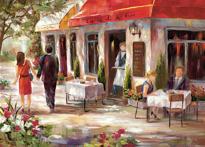 13957gg Cafe Afternoon II, by Nan, available in multiple sizes
