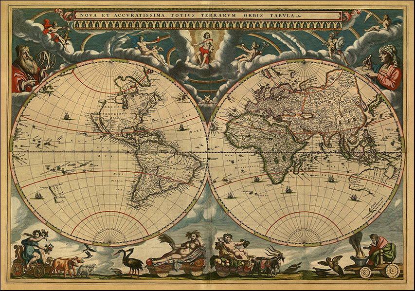 14440841 Vintage World Map, available in multiple sizes