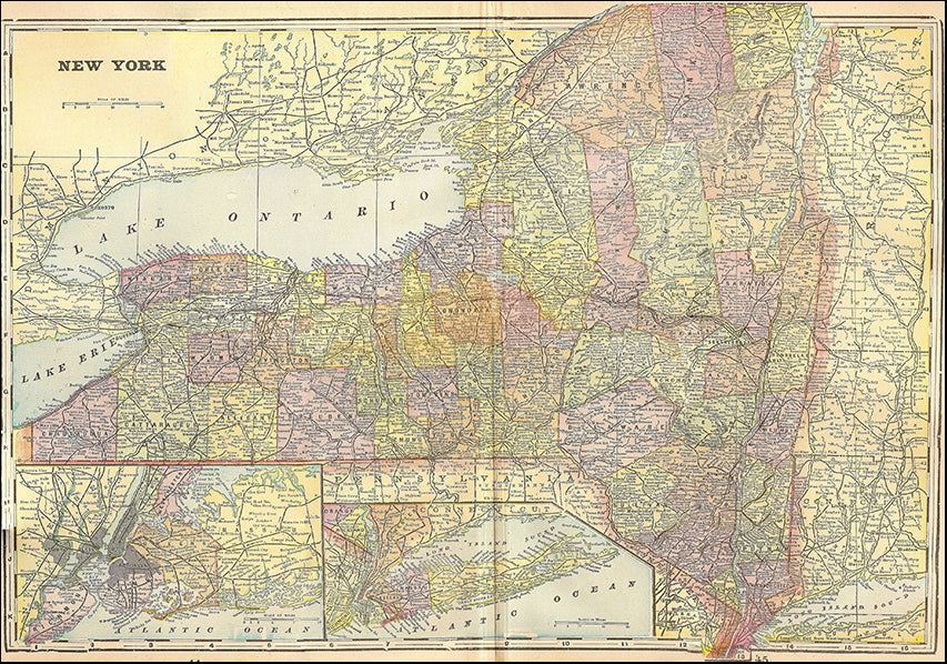 14902292 Map of New York 1896, available in multiple sizes