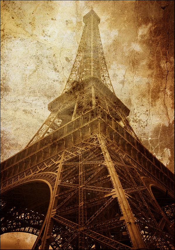 15669463 Eiffel Tower Grunge III, available in multiple sizes