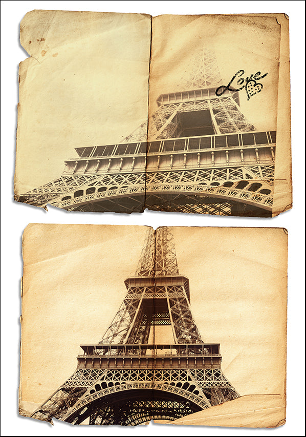 17860407 Eiffel Tower Collage, available in multiple sizes