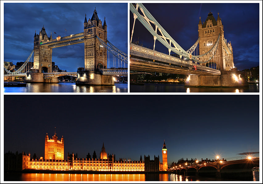 18138596 Famous London landmarks Montage, available in multiple sizes