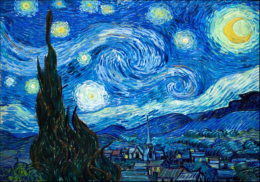 21057740 The Starry Night 1889 by Vincent Van Gogh, available in multiple sizes