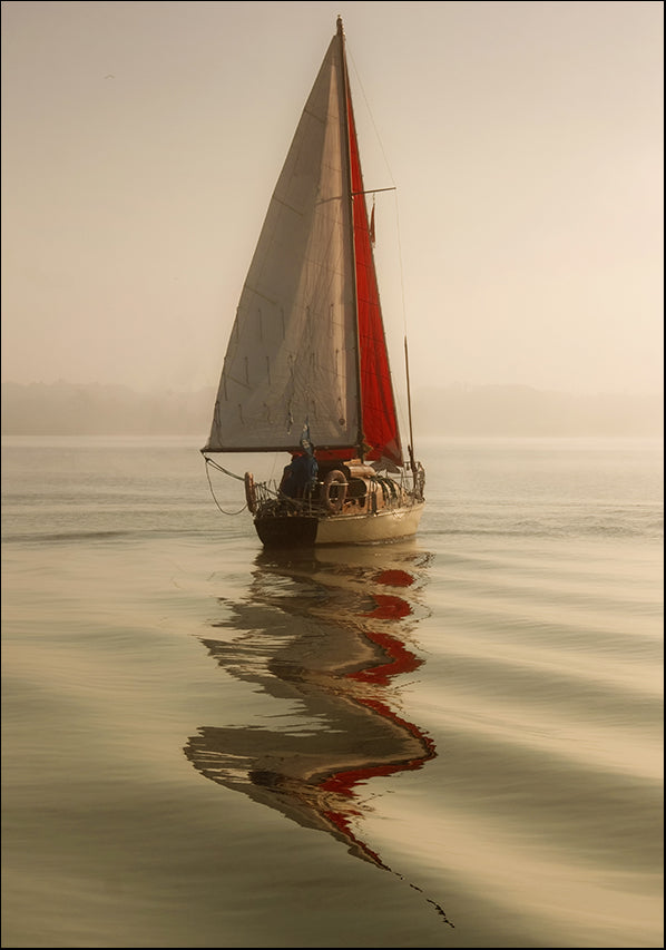 21160879 Sail Boat Reflections, available in multiple sizes