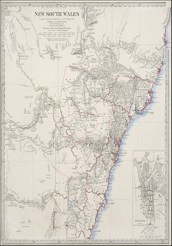 23410947 Antique Map Sydney, available in multiple sizes