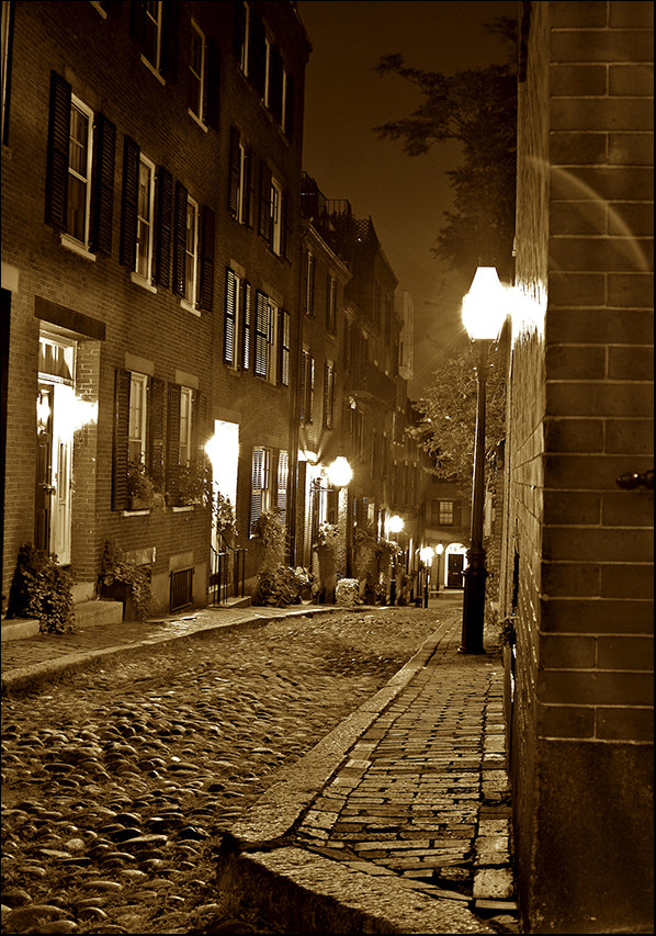 3431819 Paris Street at Night, available in multiple sizes