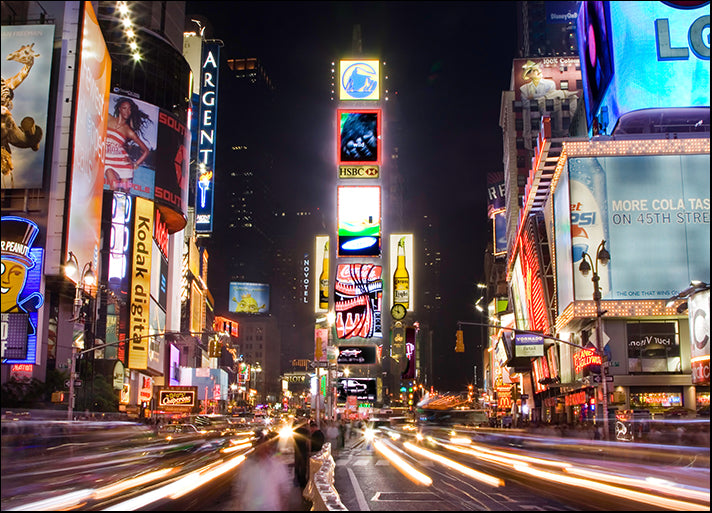 4454929 Times Square at night New York, available in multiple sizes
