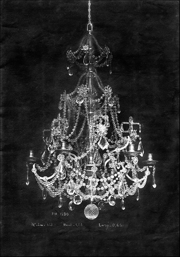 AD0437 Paris Chandelier on Black 2, available in multiple sizes