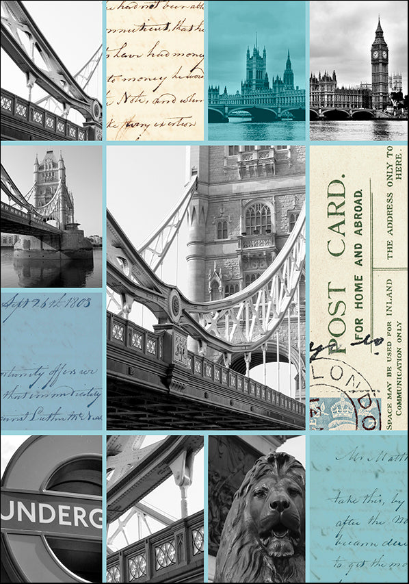 A8454 London Postcards, available in multiple sizes