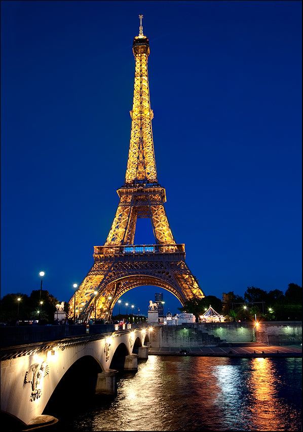 9468671 Eiffel tower at night, available in multiple sizes