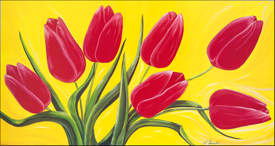 Copy of AAC DH002 Red Tulips by Detlev Henrichs 96x50cm on paper