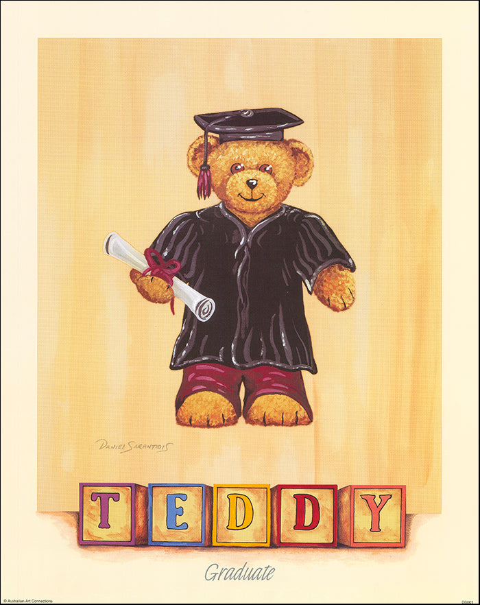 AAC DS001 Graduate Teddy by Daniel Sarantidis multiple sizes on paper
