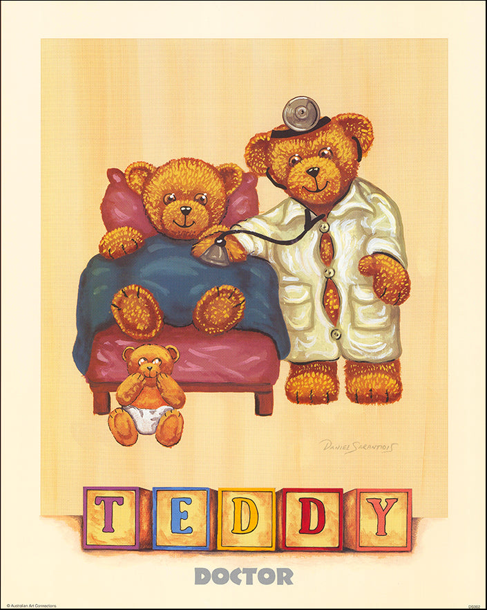 AAC DS002 Doctor Teddy by Daniel Sarantidis multiple sizes on paper