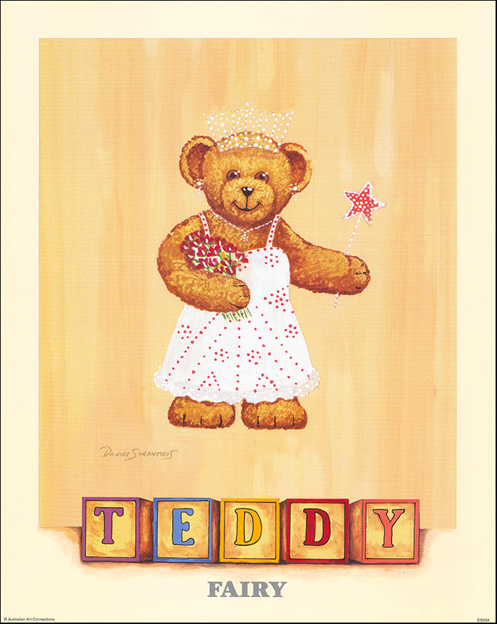 AAC DS004 Fairy Teddy by Daniel Sarantidis multiple sizes on paper