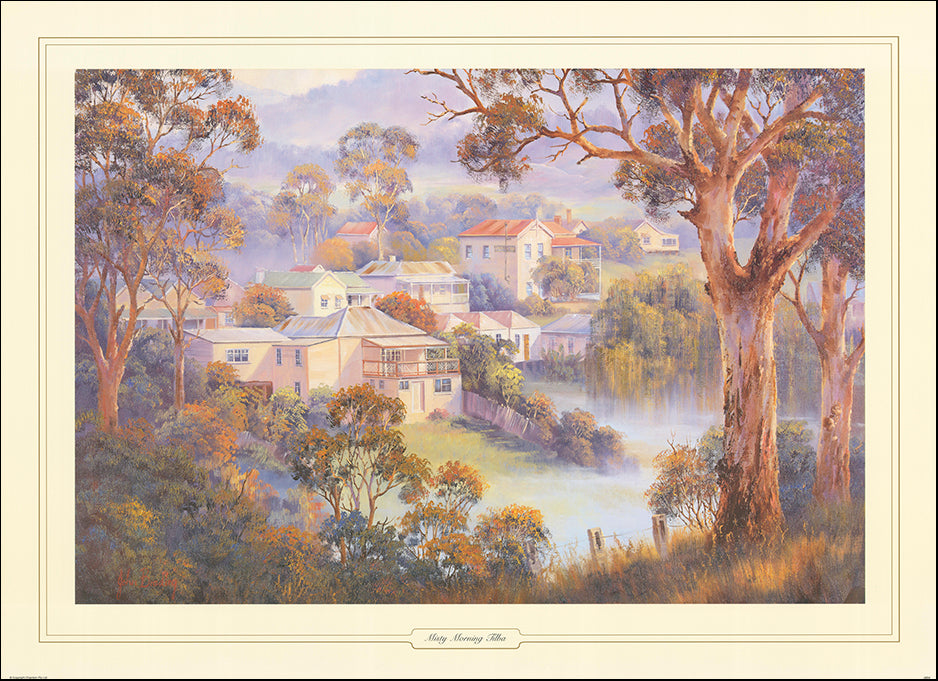 AAC JB04 Misty Morning Tilba by John Bradley 93x68cm on paper