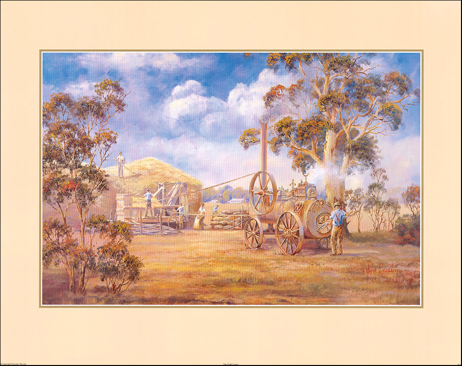 AAC JB62 The Chaff Cutters by John Bradley multiple sizes on paper