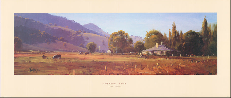 AAC JWO274 Morning light by John Wilson 104x44cm on paper