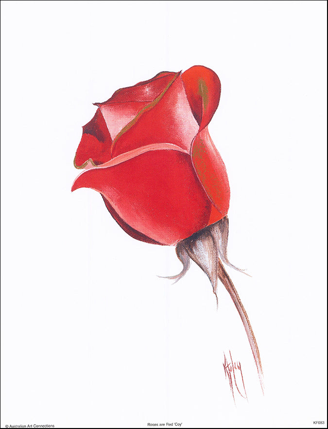 AAC KF083 Roses are Red Coy by Karen Foley 27x35cm on paper
