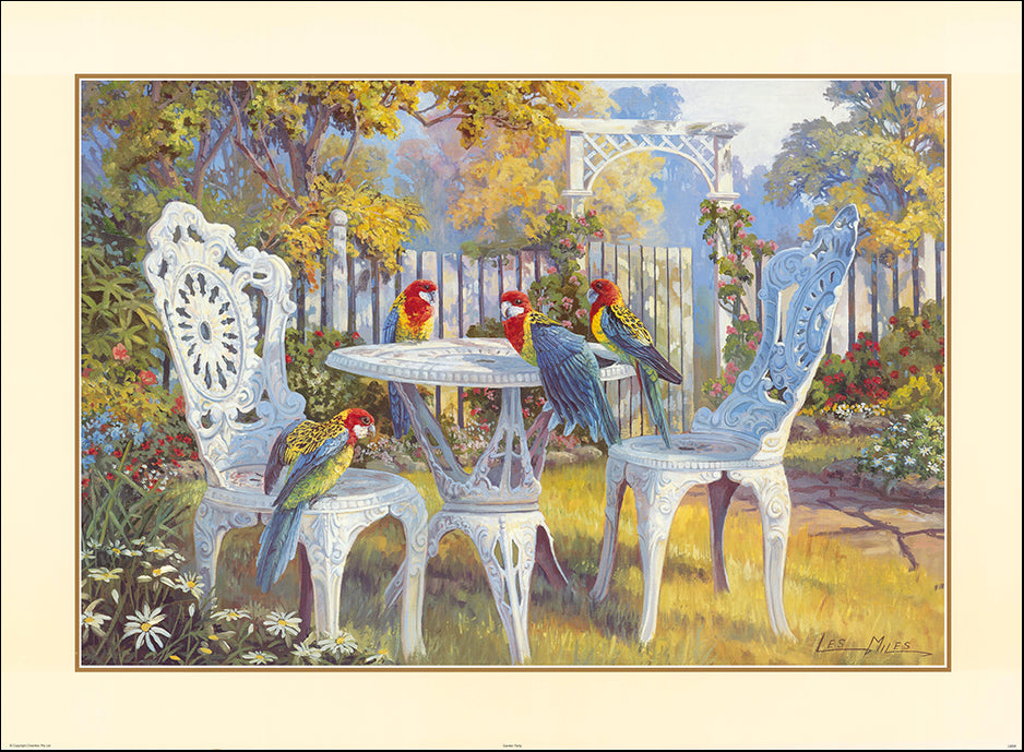 AAC LM340 The Garden Party by Les Miles multiple sizes on paper