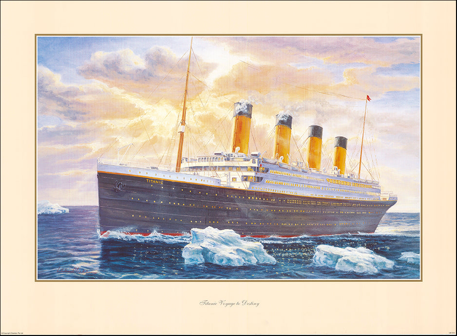 AAC LM Titanic Voyage to Destiny by Les Miles 83x60cm on paper