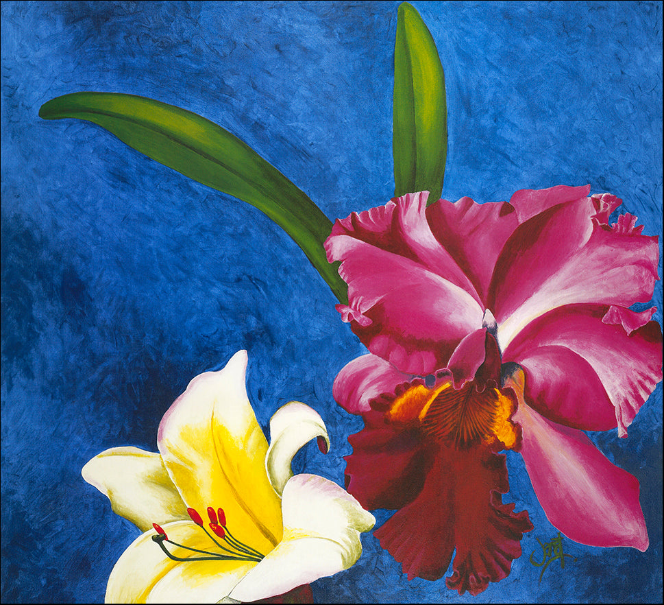 AAC WJ001 Floral Charm 1 by Janet Wilson multiple sizes on paper