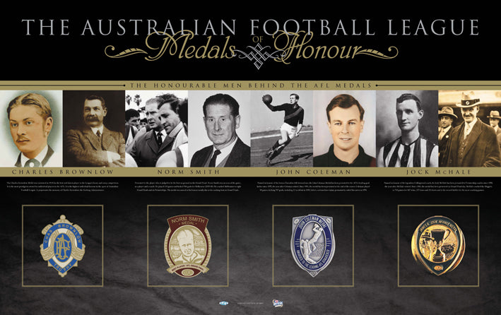 AFL VFL Medals of Honour 80x50cm paper - Chamton