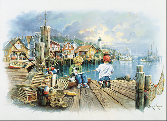 ANDORP91635 Fishing Docks C, by Andres Orpinas, available in multiple sizes