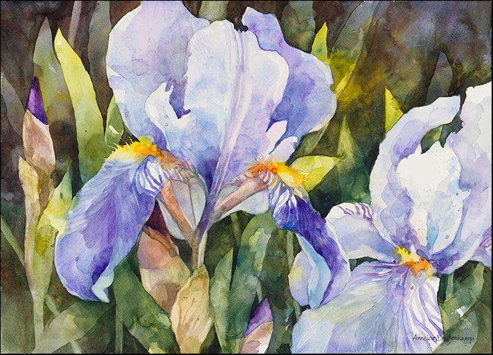ANNBEU109014 Purple Iris Closeup, by Annelein Beukenkamp, available in multiple sizes