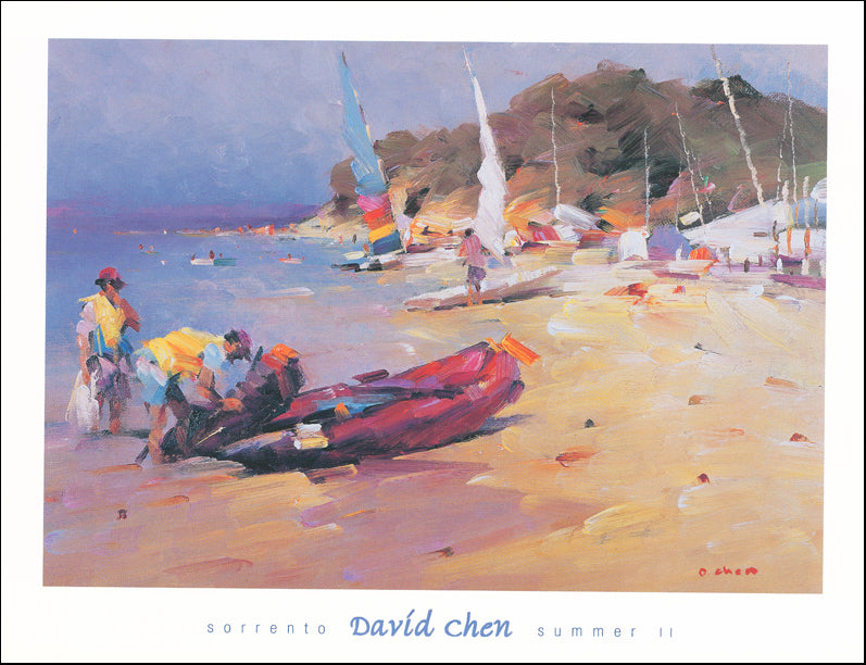 AW DC592 David Chen 65x49cm on paper, Sorrento Summer 2