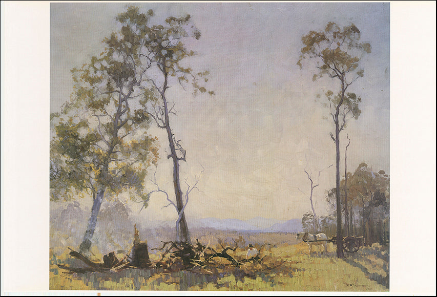 AW EG254 Morning in the Clearing 1920 by Elioth Gruner 101x68cm on paper