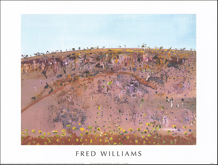 AW FW750 Iron Ore Hill Mount Turner 1979 NGV by Fred Williams 80x60cm on paper