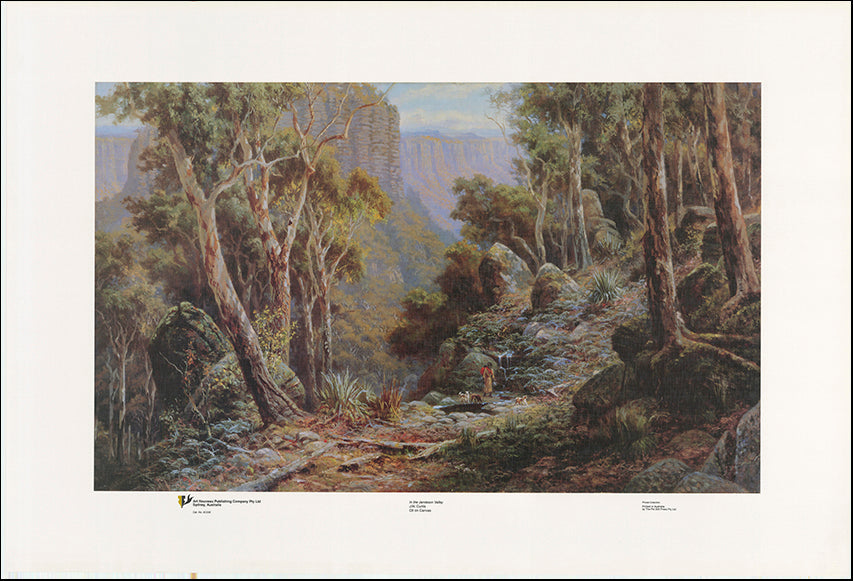 AW JC336 The Jamison Valley by  JW Curtis 101x68cm on paper