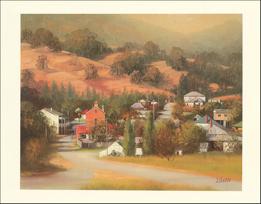 AW JV303 View of Sofala by John Vander 45x35cm on paper