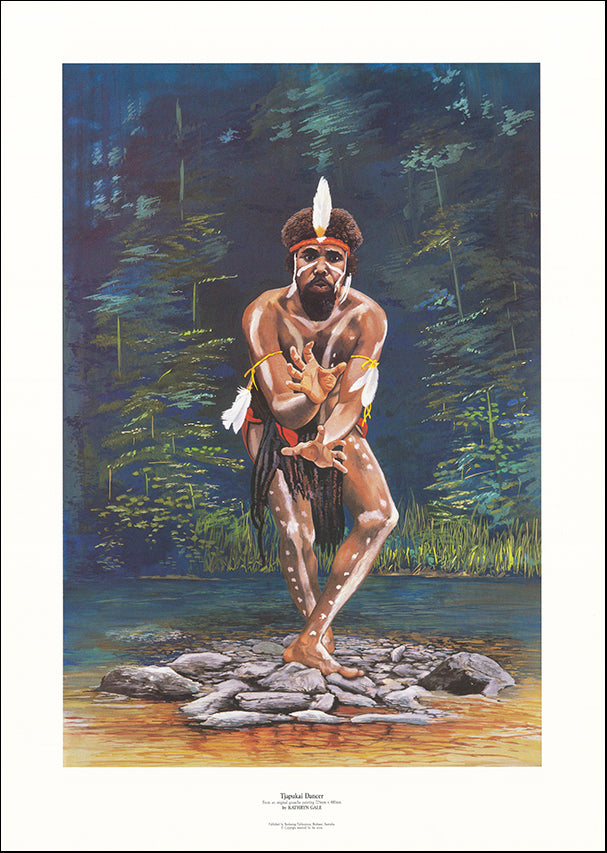 AW KG1 Tjapukai Dancer by Kathryn Gale 55x78cm on paper